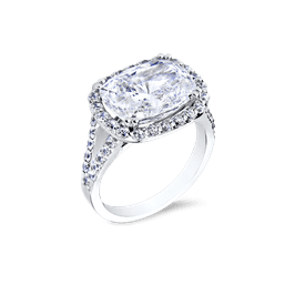 Oval Cushion 6.0 Ct. 14K Ring
