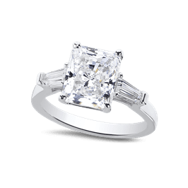 Radiant Cut 3.0 Ct. 14K Ring