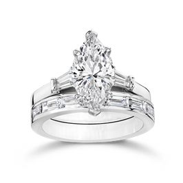 Marquise 2.5 Carat, 14K Wedding Ring Set