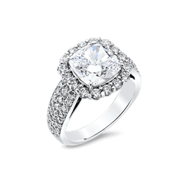 Cushion Cut 3.50 Ct. 14K Ring