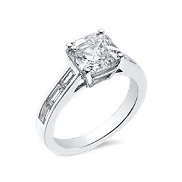 Asscher Cut 2.50 Ct. 14K Ring